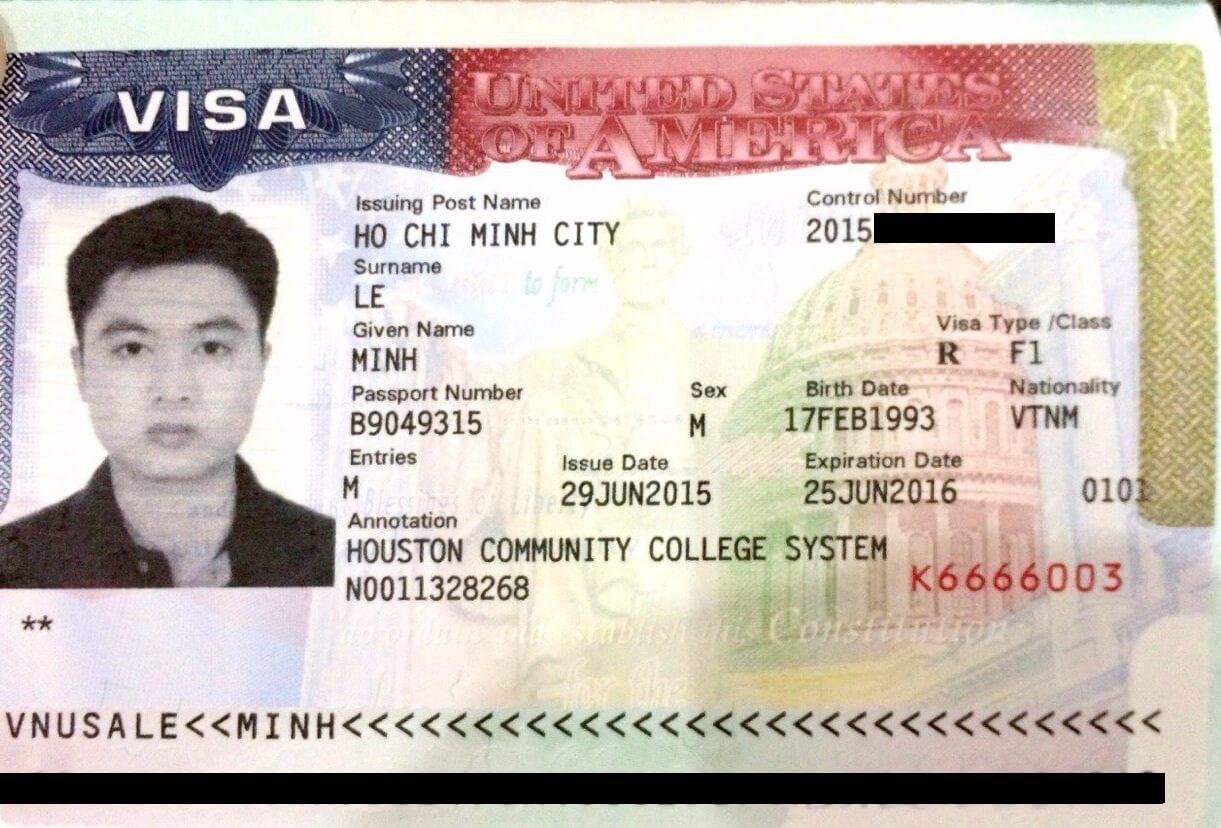 Visa du học Mỹ diện F1